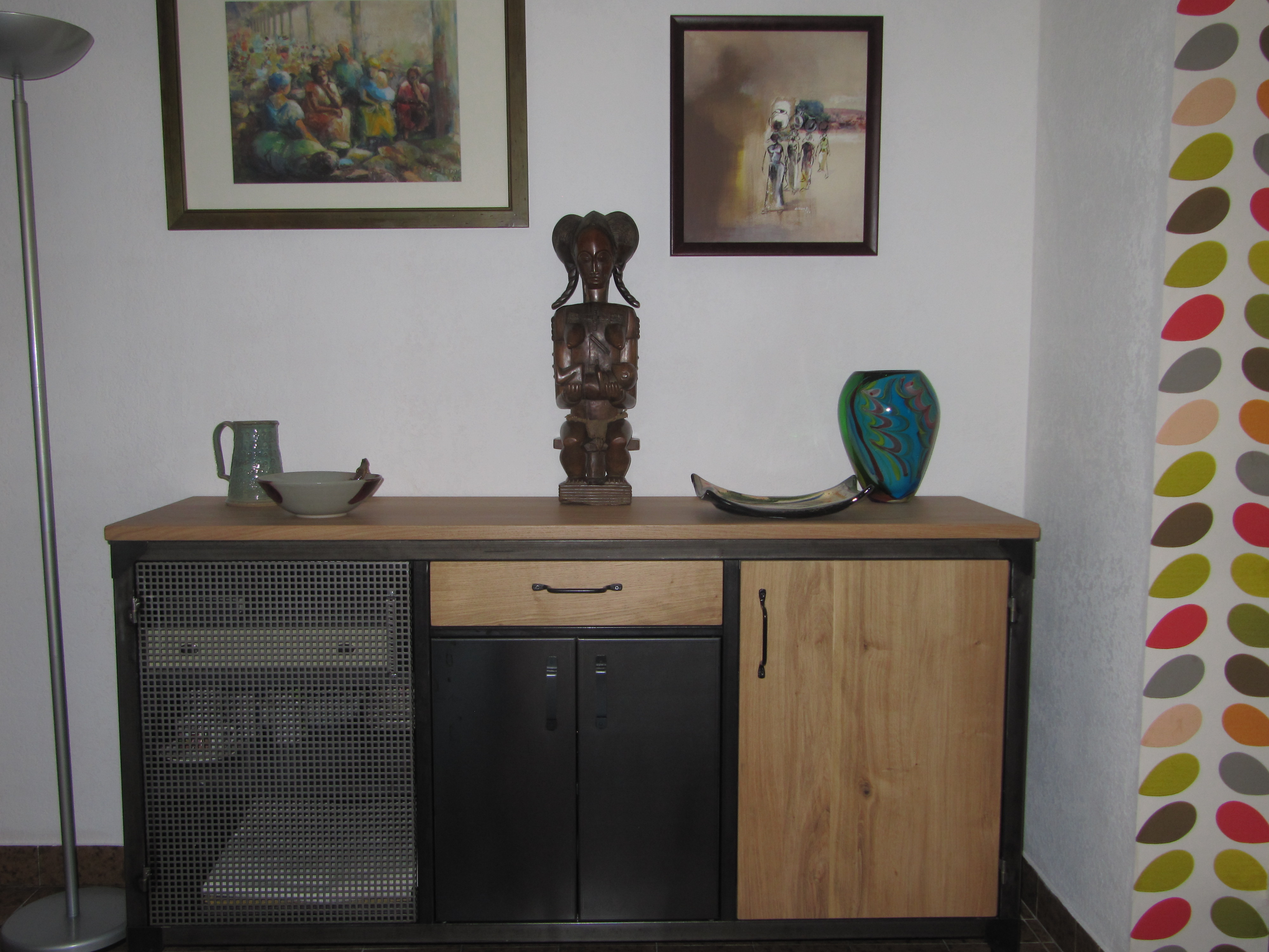 buffets c factory cr ations buffets buffet m tal et bois. Black Bedroom Furniture Sets. Home Design Ideas