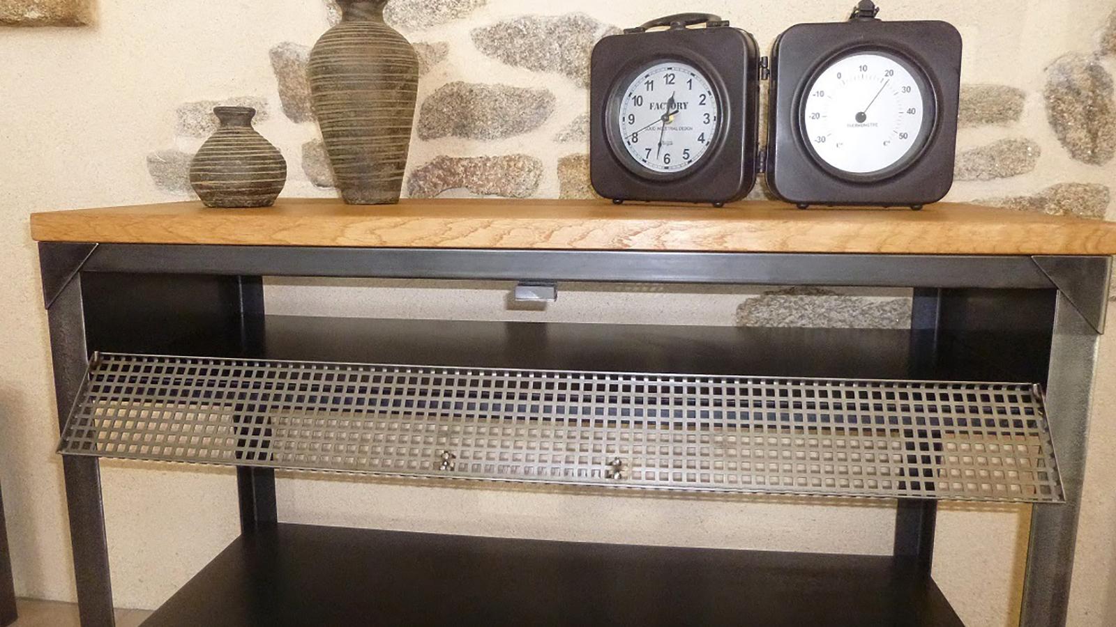 C factory cr ations meuble style industriel sur mesures for Desserte style industriel